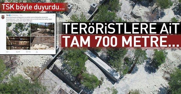TSK az önce duyurdu! Teröristlere ait tam 700 metre...