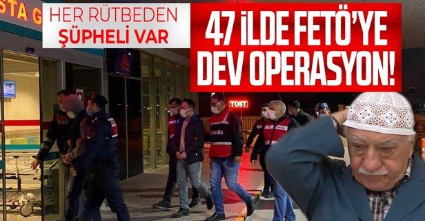 İzmir merkezli 47 ilde FETÖ'ye ağır darbe!