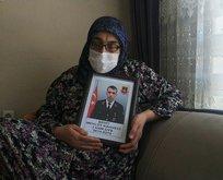 Şehit annesi PKK'nın iftirasını yalanladı