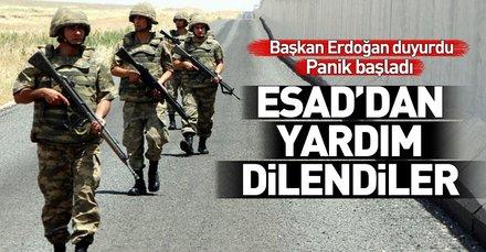 YPG/PKK Türkiye'ye karşı Esad'dan yardım dilendi!