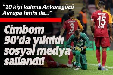 Galatasaray 90'da yıkıldı! Sosyal medya sallandı! İşte o yorumlar...