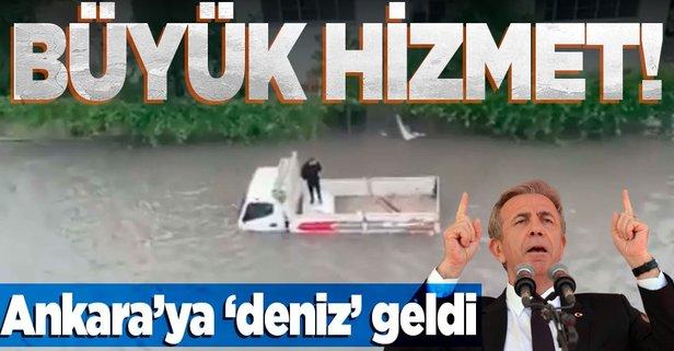 Ankara'da sokaklar göle döndü