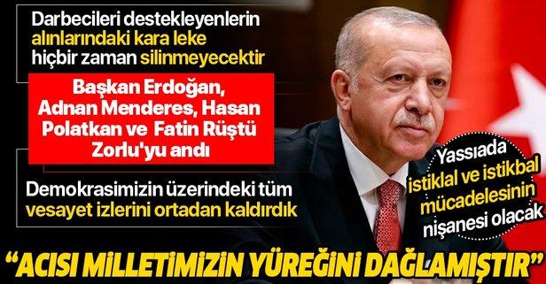 Başkan Erdoğan, Menderes, Polatkan ve Zorlu'yu andı