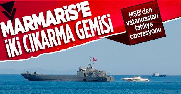 Marmaris'e iki çıkarma gemisi gönderildi!
