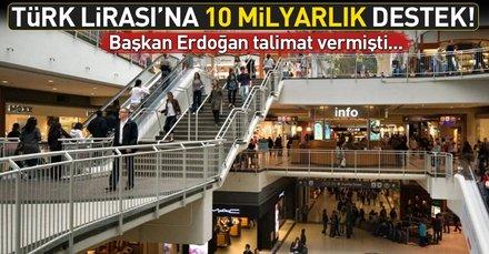 Türk Lirasına 10 milyarlık destek