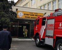 Üsküdar'daki lisede yangın paniği