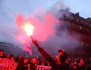 Son dakika: Fransa'da eylemciler Macron'a karşı yürüdü! Sarı yelekliler de orada...