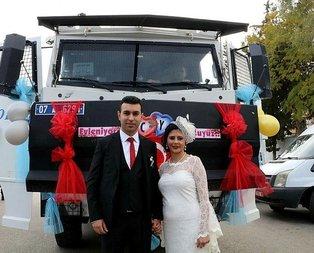 Antalyada evlenen polis çiftin ilginç hikayesi
