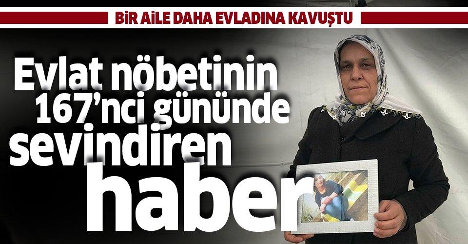 Son dakika: Diyarbakır'daki evlat nöbetinden sevindiren haber! Bir aile daha evladına kavuştu