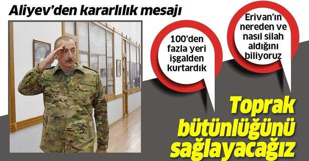 Aliyev emin konuştu!