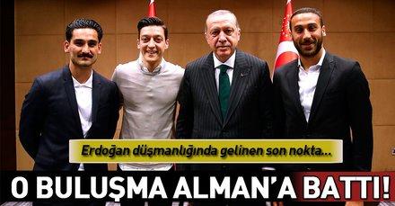 Erdoğanın futbolcularla buluşmasına Almanyadan skandal tepki