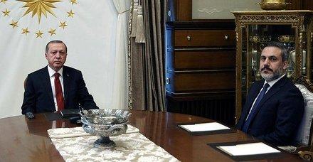 Başkan Erdoğan, Hakan Fidan'ı kabul etti