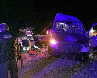Yozgat'ta minibüs devrildi: 16 yaralı
