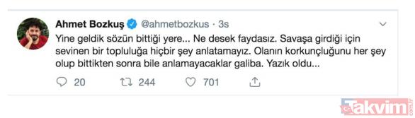 Türk askeri YPG'yi vurdukça FETÖ'cü hainler rahatsız oldu!