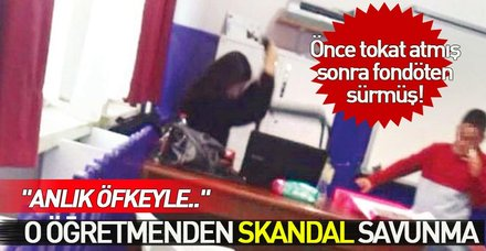 Antalya'da önce tokat atmış, sonra fondöten sürmüş! O öğretmen serbest kaldı, kendini böyle savundu
