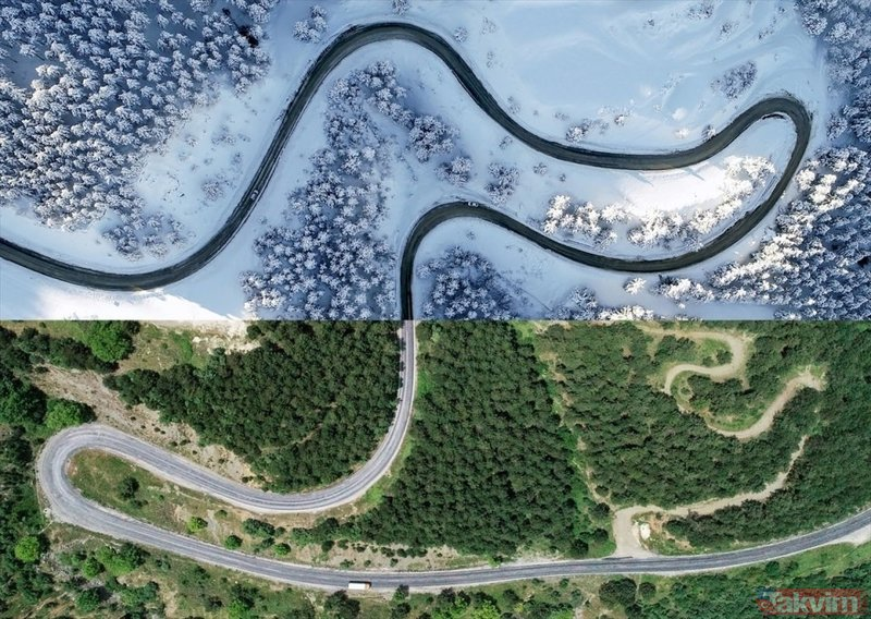 Türkiye'den muhteşem kareler! İşte kuş bakışı fotoğraflarla Türkiye'den yaz-kış manzaraları