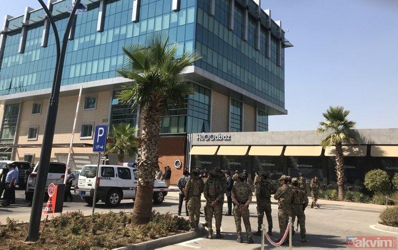 Irak Erbil'de hain saldırı! Olay yerinden ilk görüntüler