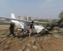 KKTC'de eğitim uçağı düştü! Ölüler var
