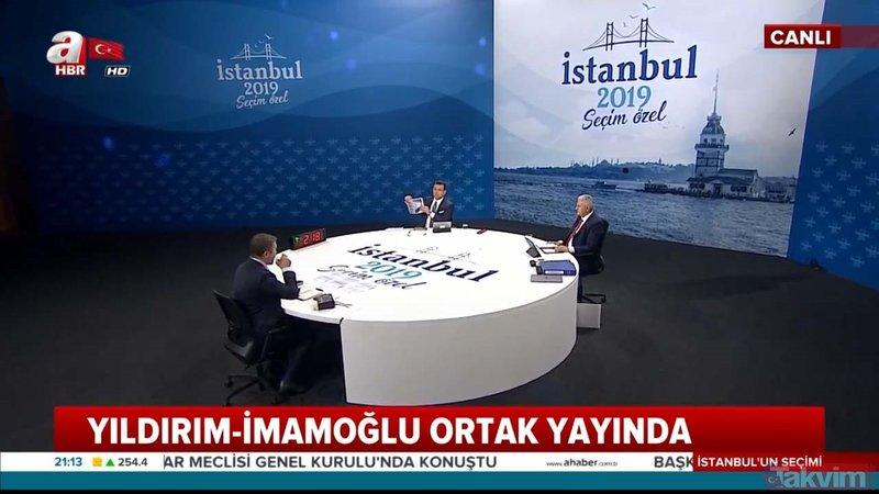 Binali Yıldırım - Ekrem İmamoğlu canlı yayınında bomba iddia: CHP adayına sorular verildi!