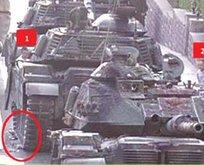 Hard diskleri tankların altında ezerek imha etmişler