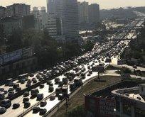 İstanbulda bayram trafiği başladı!