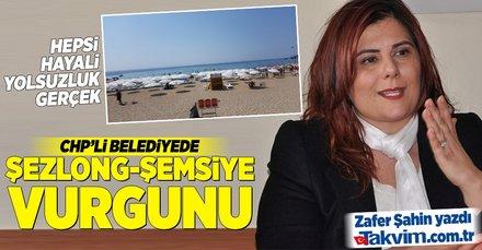 CHPli Aydın Büyükşehir Belediyesinde şezlong-şemsiye vurgunu