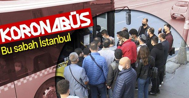 İstanbul'da toplu ulaşımda yoğunluk