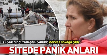 Bodrum'da sitede korkutan patlama! Herkes sokağa kaçtı