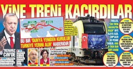 CHP'li trollerin Halkalı'da kaldı dediği tren Çin'in Xian kentine ulaştı!