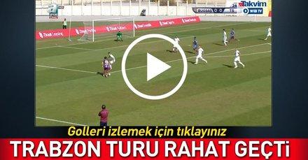 Ziraat Türkiye Kupasında Trabzonspor, Bugsaşsporu 2-0 mağlup etti!