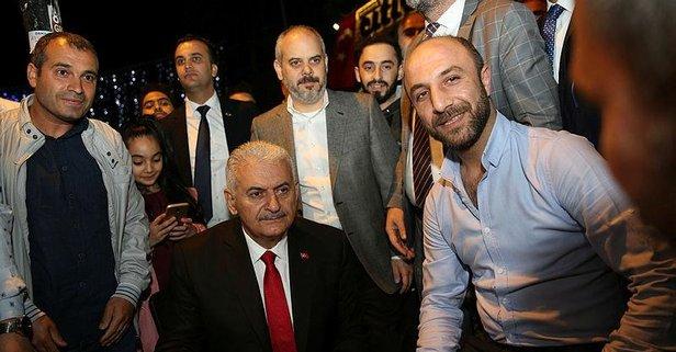 İstanbul'da Binali Yıldırım'a yoğun ilgi