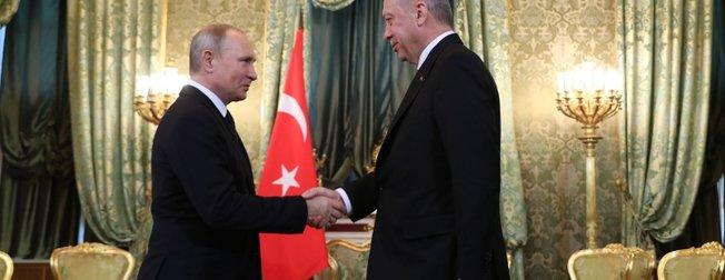 Başkan Erdoğan Moskova'da! Putin ile bir araya geldi
