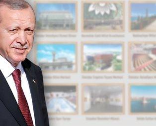 İşte Başkan Erdoğanın açılışını yaptığı 9 proje