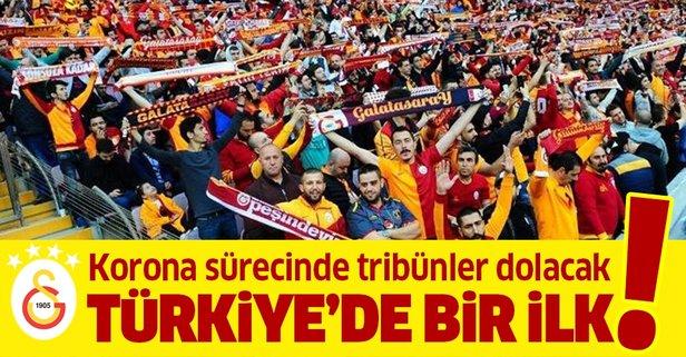 G.Saray'dan Türkiye'de bir ilk! Korona sürecinde tribünler dolacak