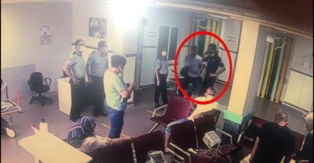 Hastanede panik! Silahını alıp kaçtı