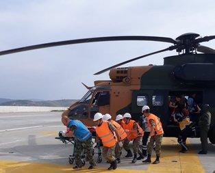 Askeri helikopter, yaralı çocuk için havalandı