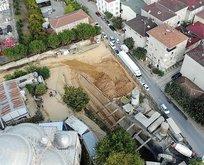 Metro inşaatı göçtü! Mahalleli İBB'ye tepki gösterdi