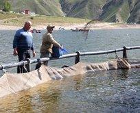 Deniz yok! 2 bin metrede 2 bin 200 ton balık üretildi