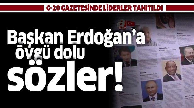 G-20 gazetesinde liderler tanıtıldı! Başkan Erdoğan'a övgü dolu sözler ile ilgili görsel sonucu