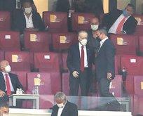 Başkanlar maçı birlikte takip etti
