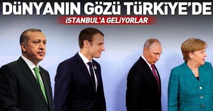 Dünyanın beklediği Suriye zirvesi bugün İstanbul'da yapılacak