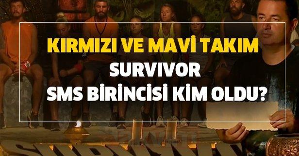 Kırmızı ve mavi takım Survivor SMS birincisi kim oldu?