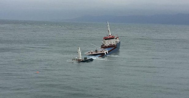 Marmara'da kuru yük gemisi battı