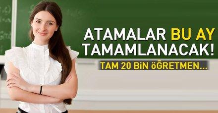 20 bin öğretmen göreve başlıyor