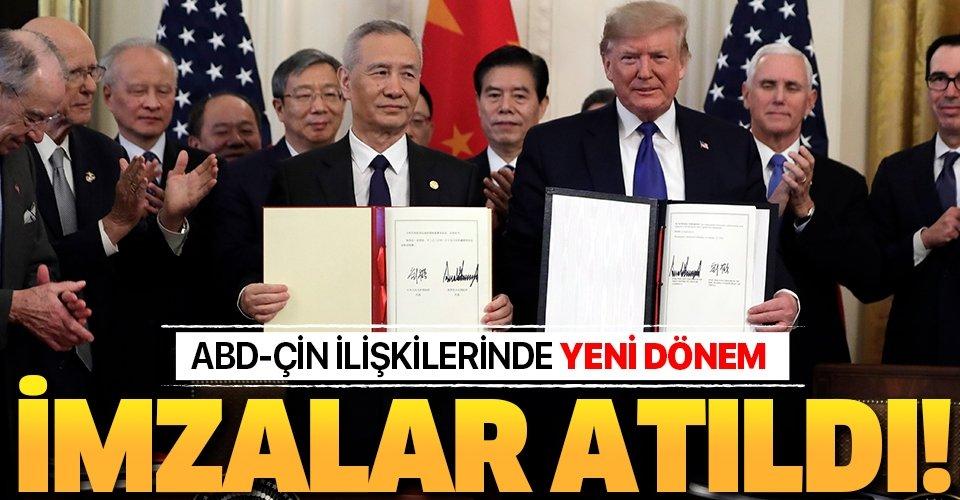 Son dakika: ABD ile Çin arasında yeni dönem! İki ülke birinci faz ticaret anlaşmasını imzaladı