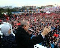 Erdoğan: Terör örgütünün nasıl kaçtığını görüyoruz!