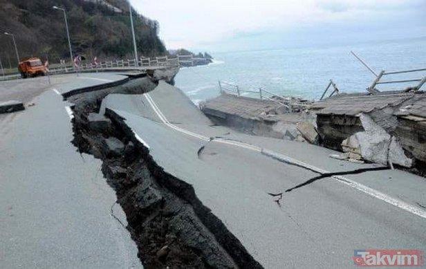 Orduyu sel vurdu, denizde fındık adası oluştu
