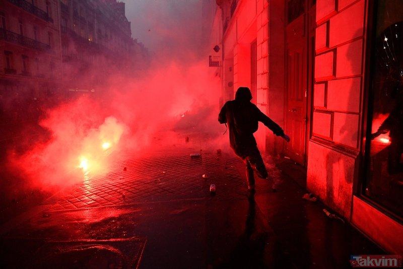 Fransa yeniden yangın yeri! Emeklilik reformuna karşı eylemde 16 kişi gözaltına alındı