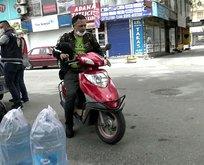 Yasağı dinlemedi motosikletle tur attı!