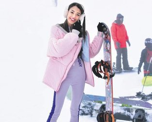 Dilan'ın kayak keyfi